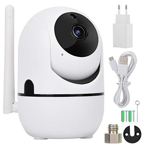 Auto Track 720P/1080P HD Wireless WIFI Telecamera PTZ Telecamera di Sicurezza, Visione Notturna Citofono Vocale Bidirezionale Monitoraggio Remoto Telecamera di Rilevamento(720P UE)