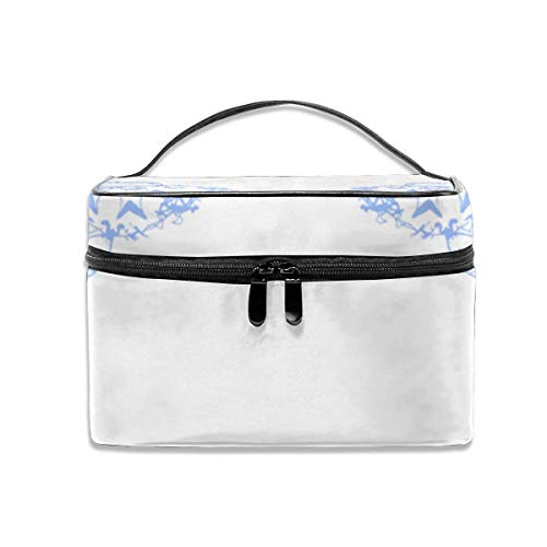 Make-up Taschen Etuis,Kosmetiktaschen Bird Feeding Chicks Blue On White Inch Repeat FA Travel Makeup Bag Cosmetic Cases Organizer Portable Storage Bag for Cosmetics Makeup Brushes Toiletry Travel Acc