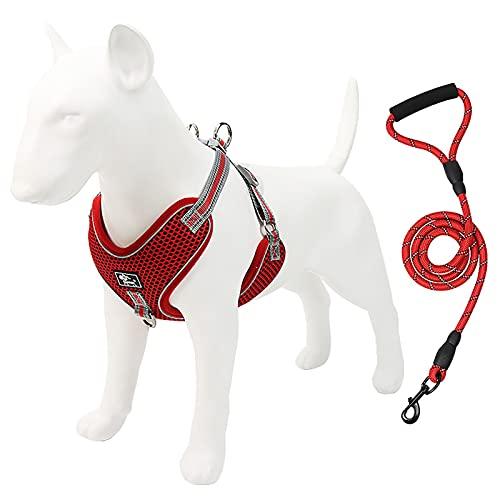 Botitu Marzo DE Perro NO-TRATE DE Control Easy, Chaleco Reflectante Ajustable Al Aire Libre, Luz Transpirable Y Cómoda, Adecuada para Perros Grandes,Red 3XL