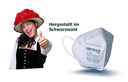FeineHeimat atemious PRO 10 x Komfort Vlies FFP2 Atemschutzmaske Made in Germany mit Zertifikat CE 2163 - 3