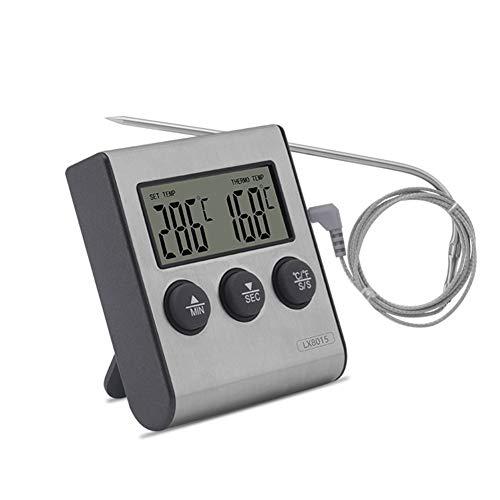 URNOFHW Pantalla termómetro bimetálico Digital Monitor de la sonda de Temperatura for Hornear Universal Universal de Cocina electrónica