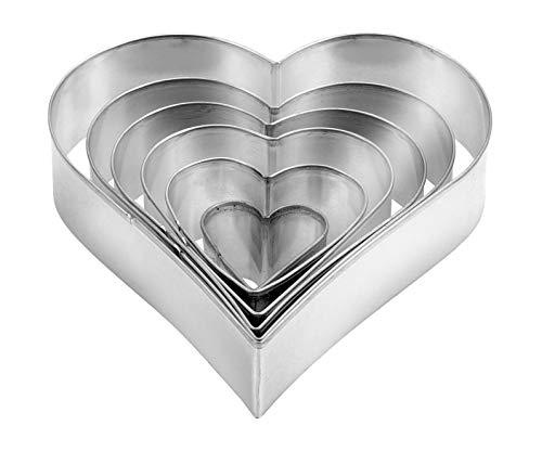 Tescoma 631362 JGO 6 Cortapastas Corazon Delicia, Metal, 6 Piezas