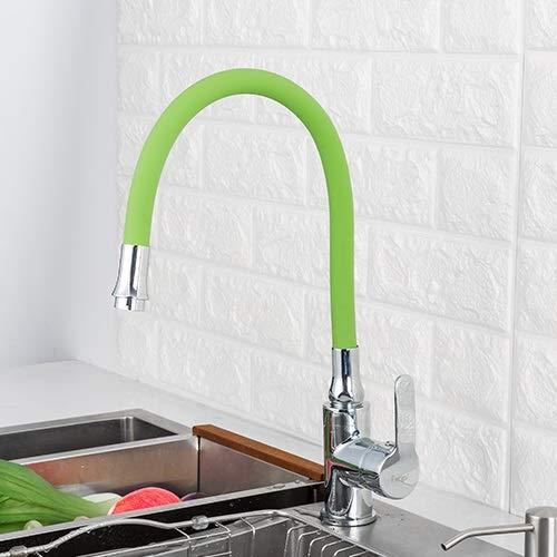 FRAP SILICA GEL NARIZ Cualquier dirección giratoria Grifo Grifo Frío y mezclador de agua caliente Torneira Cozinha Sola manija Tap F4353 (Color : F4353F7251)