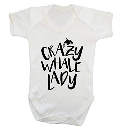 Crazy Whale Lady Baby-Body Gr. 50, weiß