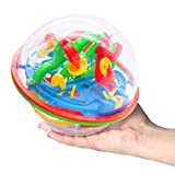 3D Maze Game with 138 Obstacles, Labyrinth Ball 3D Puzzle Toy Magical Maze Ball for Kids