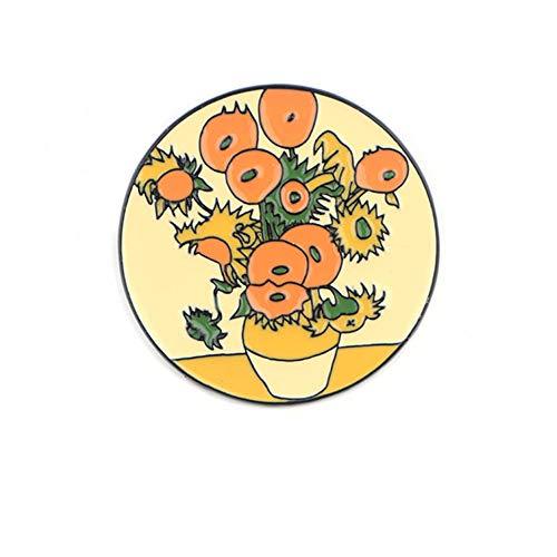 BBLLBrosche Mode Van Gogh Emaille Pin Sammlung Kunst Ölgemälde Broschen Für Frauen Anstecknadeln Abzeichen Kragen Schmuck4