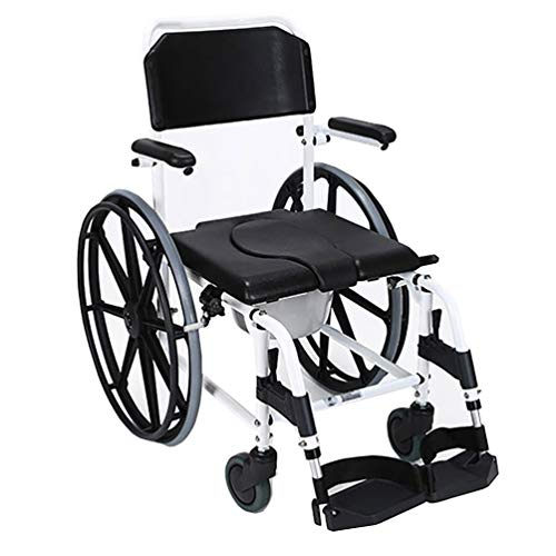 Find Discount ZRLunyi Folding Commode Chair for Toilet Pedal, 250 LBS Weight Capacity, 4 in 1 Multif...