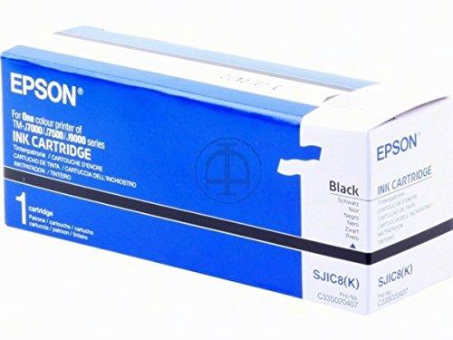 Original Tinte Epson SJIC8 , SJIC8K C33S020407 - Premium Drucker-Patrone - Schwarz