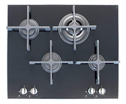 Plaque de cuisson en cristal - Plados Kristal 60 - de 60 cm Blanc/Noir Noir