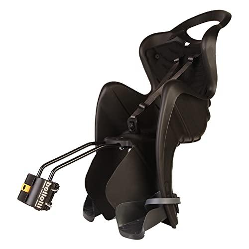 b bellelli Mr Fox - Siège arrière pour vélo - pour Les Enfants jusqu'à 22 kg, de 3 à 8 Ans - Fixation au Cadre - Noir