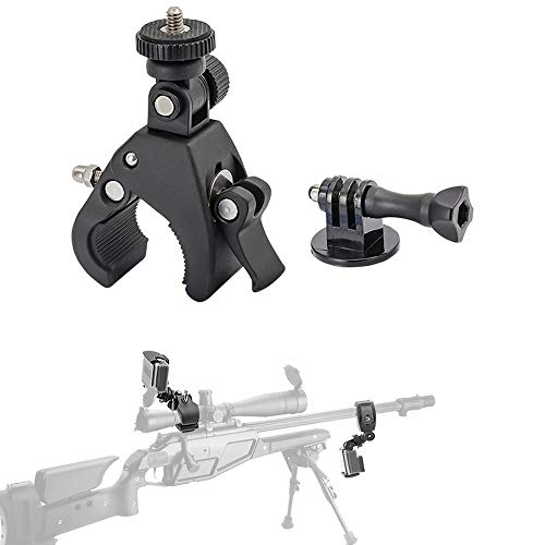 Portable Gun Mount for Gopro Hero 7 6 Espacial for Paintball Gun,Sniper Rifle Barrel and Rifle Scope