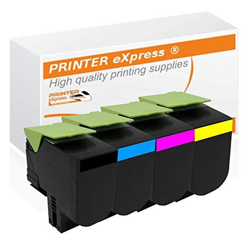 Printer-eXpress 4er Set Toner ersetzt Lexmark 71B20B0, 71B20C0, 71B20M0, 71B20Y0 für CS317 CS317DN CS417 CS417DN CS517 CS417DE CX317 CX317DN CX417 CX417DN CX517 CX417DE
