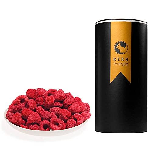 KERNenergie Himbeeren, gefriergetrocknet (100g) – schonend gefriergetrocknet mit vollem Geschmack – ohne Zuckerzusatz – als Snack, im Müsli oder zum Backen