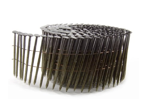 B&C Eagle 3X120C Round Head 3-Inch x .120 x 15 Degree Bright Smooth Shank Wire Collated Coil Framing Nails (2,500 per box)
