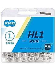 KMC Unisex's HL1 brede halve schakel cyclus ketting, zilver, 100