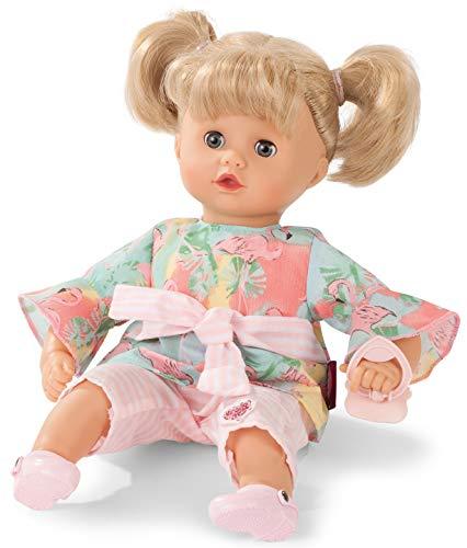 Götz 1920932 Muffin Flamingo Love Puppe - 33 cm große Babypuppe mit blauen Schlafaugen, Blonde Haare und Weichkörper - Weichkörperpuppe in 6-teiligen Set