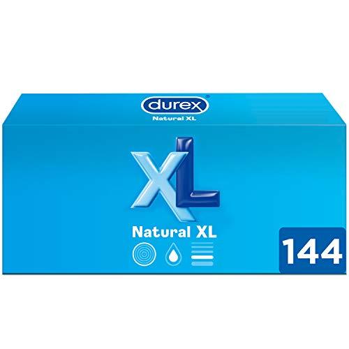 Durex Preservativos Originales Natural Plus Talla XL - Pack Ahorro 144 condones Más Grandes
