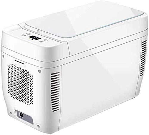 YAYY Mini-koelkast, koel- en warmte, elektrische koelbox, Dual Voltage autokoelkast, 12 V DC/220 V, wisselstroom voor auto en thuis, 11 l, draagbare koelbox voor op reis, camping (upgrade)