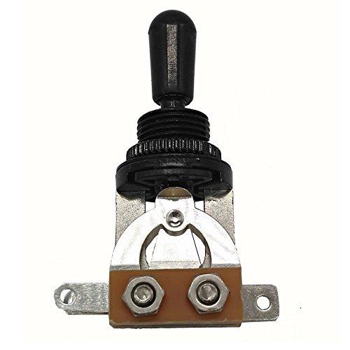 Conmutador Selector 3 Vías Posiciones Pastillas genérico negro para guitarra eléctrica