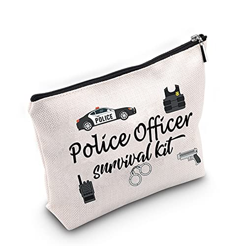 TSOTMO Police Officer Gift Policeman Law Enforcement Makeup Bag Police Officer survival kit Cosmetic Bags Gift For Retirementor Graduation CosmeticBag (Police)