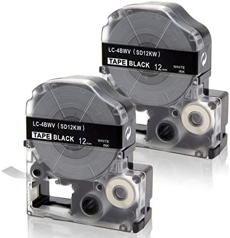 Absonic Compatible Label Tape Replacement for LK 4BWV LC 4BWV9 LabelWorks for Epson LW 300 LW product image