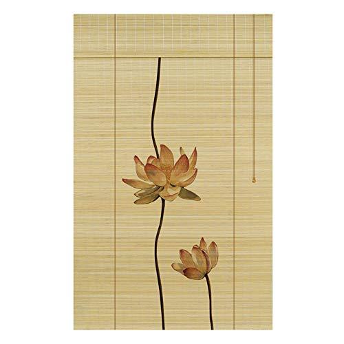 ZEMIN Protection Bambou Store Enrouleurs Vénitiens Pittoresque Rideau Salon Levage Manuel, 3 Couleurs 24 Tailles Personnalisable (Color : C, Size : 85x185cm)