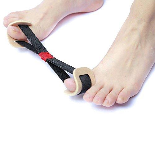 Bigtron Übung großen Zehen Separator Gürtel Zehenband Hallux Valgus Corrector Schmerzlinderung für entzündete Fußballen