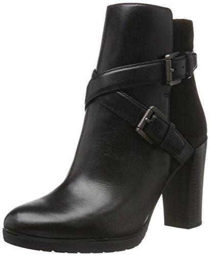 Geox Damen D RAPHAL A Kurzschaft Stiefel, Schwarz (BLACKC9999), 41 EU