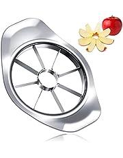Appelsnijder, 8 messen fruitsnijder, 430 roestvrij stalen appel en peerverdeler, diameter 9 cm, snijden groenten en fruit