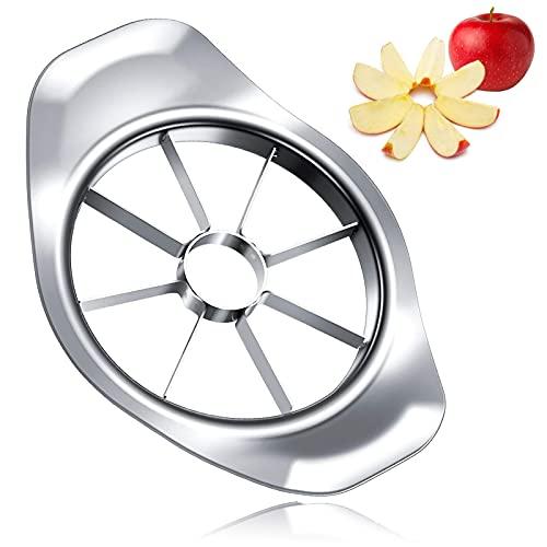 Apfelschneider, 8 Klingen Obstschneider, 430 Edelstahl Apfel und Birnenteiler, Φ 9 cm, Zerschneiden Obst und Gemüse
