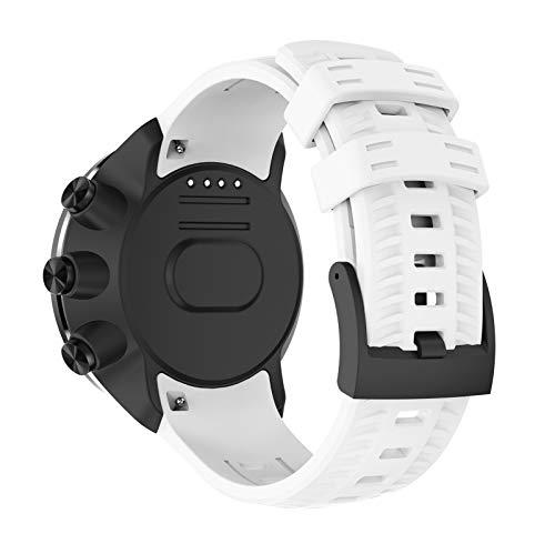 XUEMEI Cinturino per Cinturini per Suunto Spartan Sport/Polso Sportivo HR/per Suunto 9 9 Bracciale per Orologio da Baro (Color : White)