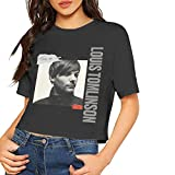 Louis Tomlinson T Shirt Short Sleeve Breathable Casual Classic Short Top Shirt for Women Black