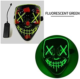 PKRISD Halloween Mask Purge Masks Election Mascara Costume DJ Party Light Up Masks Glow in Dark Cosplay Costume Supplies Funny Mask