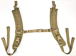 Fire Force Item 8038 A.L.I.C.E. Pack Shoulder Straps LC-2 Shoulder Strap Pads Made in USA (Tactical Tan)