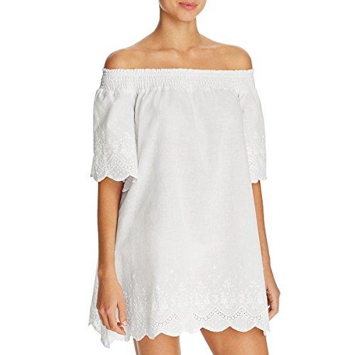 MINKPINK Women's Athena Broderie Anglais Cover Up Dress, Cream, M