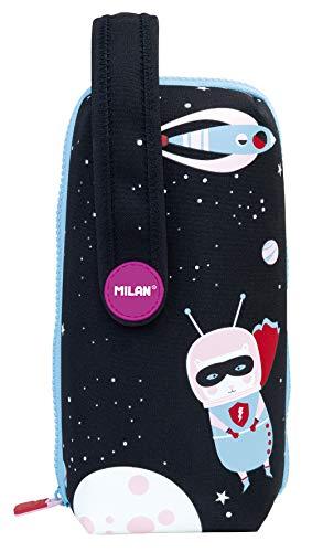 Milan Kit 4 Estuches con Contenido Super Heroes Space 1 Estuches, 22 cm, Rosa