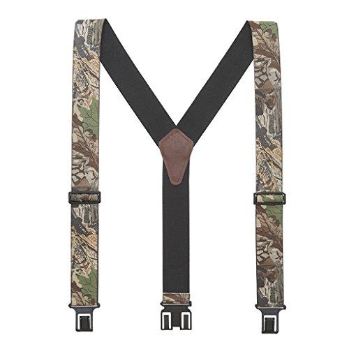 Perry Men's Advantage Timber Camo Suspenders - Belt Clip