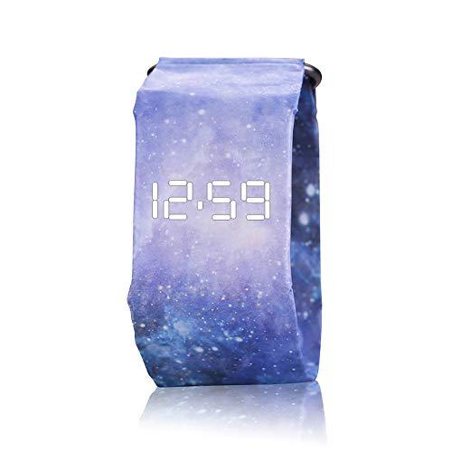 HSRG Kreative Smart Watch, wasserdichte Digitale Handgelenk-Papier-Uhr Mit Magnetsystem Für Männer, Frauen, Jungen, Mädchen Und Kinder,C
