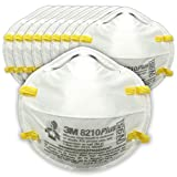 3M Particulate Respirator 8210PlusPro, N95, Smoke, Dust, Grinding, Sanding, Sawing, Sweeping, 10/Pack