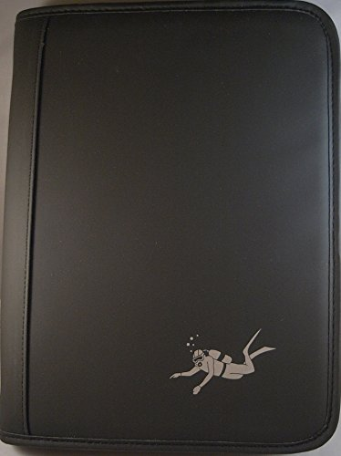 Big Scuba - Cuaderno de registro (perforación PADI), diseño de buceo, color negro