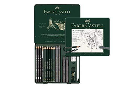 21-teilig Faber-Castell 112976 Pitt Monochrome Set im Metalletui medium