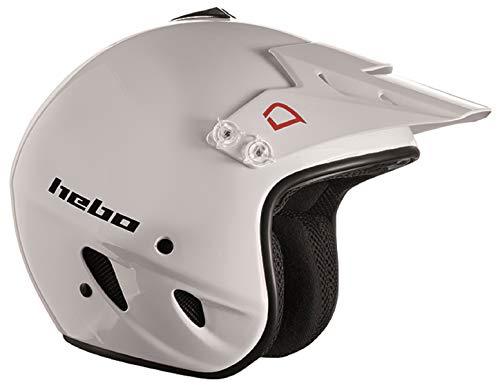 Hebo Trial Zone Polycarbonat-Helm, Weiß, Größe M