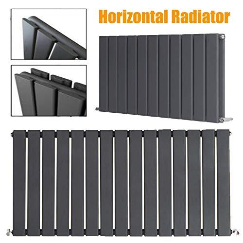 600 x 408 mm Verticaal Ontwerper Radiator Antraciet Enkele Vlakke Paneel Kolom Staand Centrale Verwarming Radiatoren