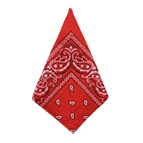 BESTOYARD Bandana Multiusos Impresa pañuelo de poliéster Que Absorbe el Sudor pañuelos (Rojo)
