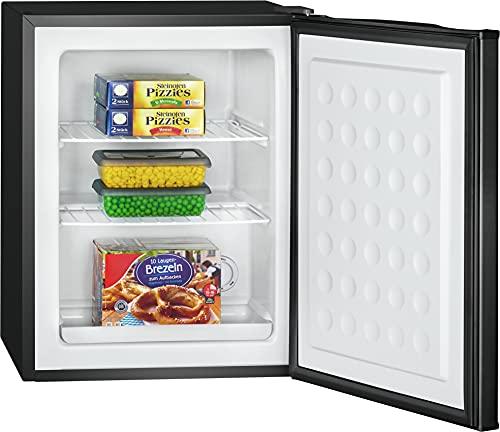 Bomann GB 7236 - Contenitore per congelatore, capacità 42 litri, con griglia estraibile, vassoio raccogli acqua di talpa, colore: Nero