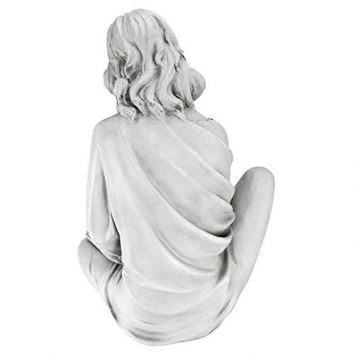Nachsinnende Leserin, Mädchenfigur auch für den Garten, Kunstharz - 4
