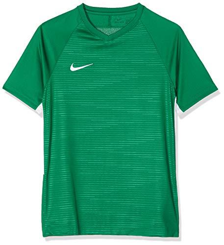 Nike Y NK Dry Tiempo Prem Jsy SS T-shirt, Niños, Pine Green/ Pine Green/ White/ White, L