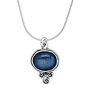 Passport To Paradise' Natural Kyanite Pendant Necklace in Sterling Silver
