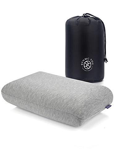 Reisekissen & Camping Kissen mit Angenehmen Bamboo Bezug mit Oeko TEX Qualität - Kleines Kissen Ideal als Bequemes Travel Pillow & Reisekopfkissen - Reisekissen Flugzeug & Nackenkissen