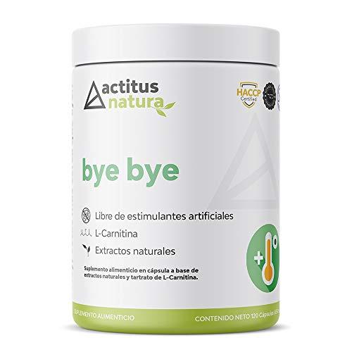 Bye Bye | Termogénico Natural | Cápsulas para quemar | L-Carnitina | Cafeína | Cetonas de frambuesa | CLA | 120 cápsulas